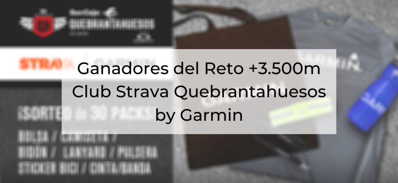 Ganadores del Reto +3.500m Club Strava Quebrantahuesos by Garmin